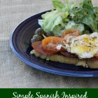 Simple Spanish Inspired Open-faced Sandwich