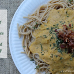 Creamy Butternut Squash Pasta Sauce with Bacon and Rosemary
