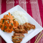 Pan-fried Thai Chicken Salad with Carrot and Ginger Salad