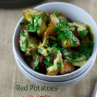 Red Potatoes with Garlic and Spanish Chorizo