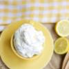 Fresh Lemon Whipped Cream