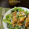 Homemade Honey Mustard Dressing and Salad