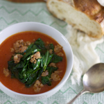 Savory Red Pepper and Fennel Soup with Sausage