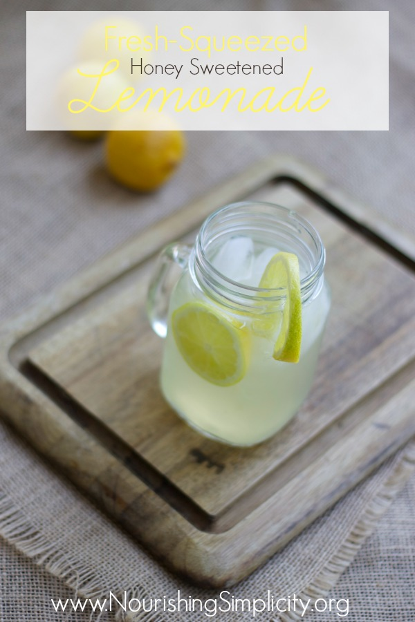 Fresh Squeezed Lemonade {Cooking Through Little House}