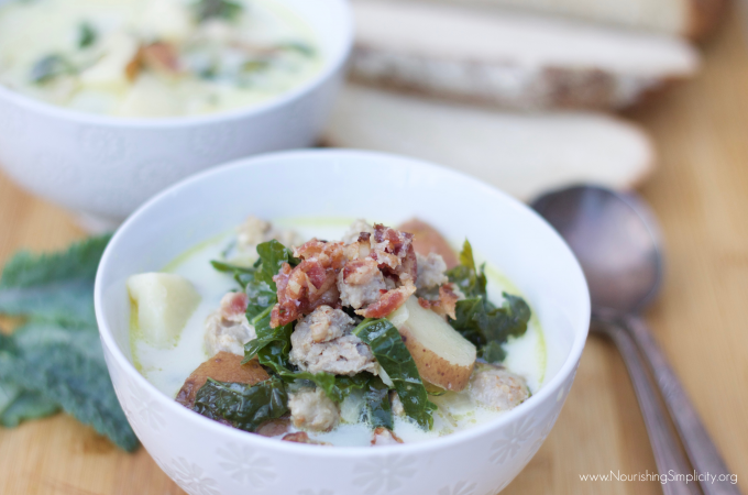 Real Food Zuppa Toscana-www.nourishingsimplicity.org