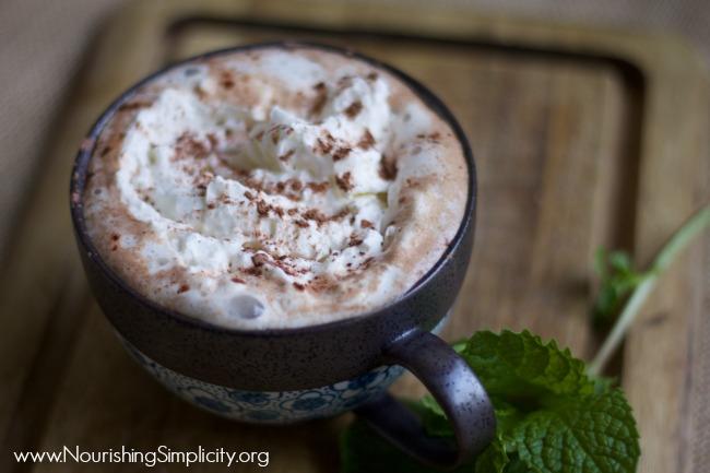 Peppermint Mocha-www.nourishingsimplicity.org