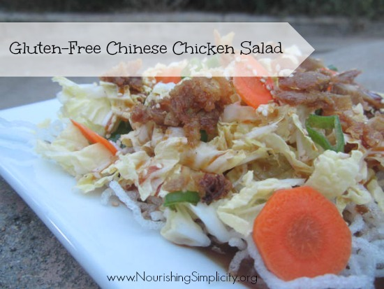 Gluten-Free Chinese Chicken Noodle Salad