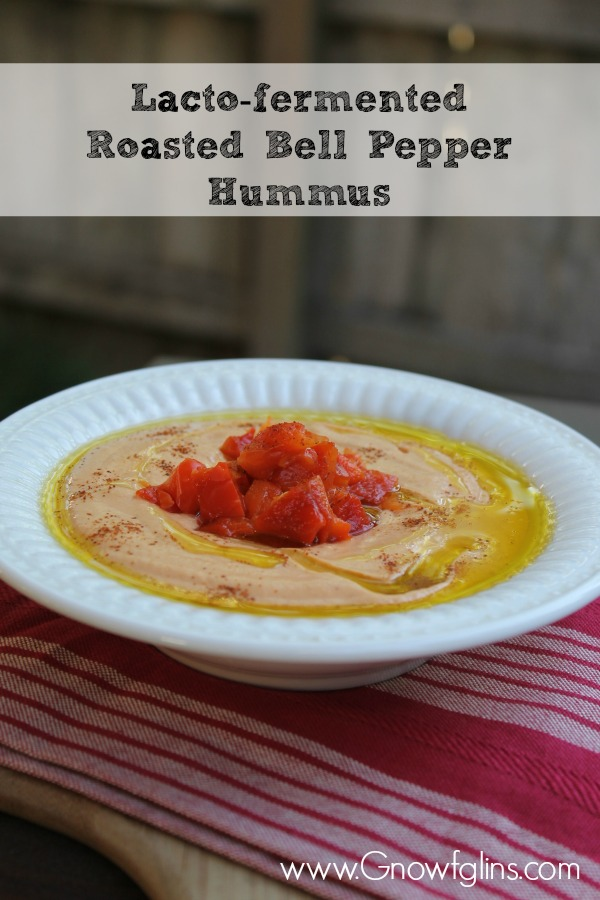 Lacto-fermented Roasted Bell Pepper Hummus 7