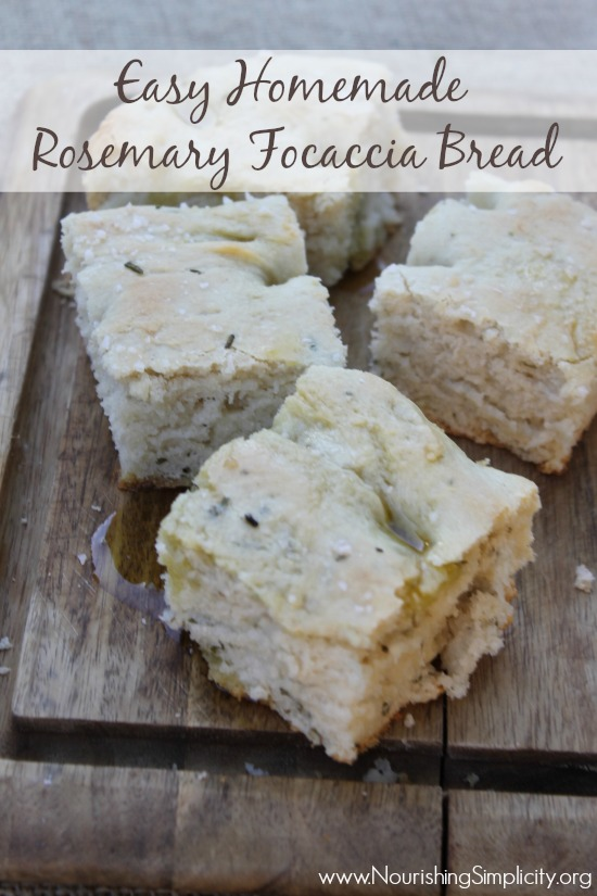 Easy Homemade Rosemary Focaccia Bread- www.nourishingsimplicity.org