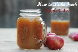 How to Make Fresh Apple Cider- www.NourishingSimplicity.org