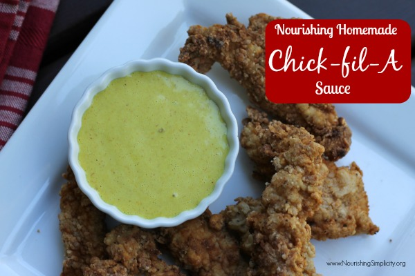 Nourishing Homemade Chick-fil-A Sauce- www.NourishingSimplicity.org
