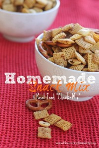 Homemade Snack Mix- www.nourishingsimplicity.org