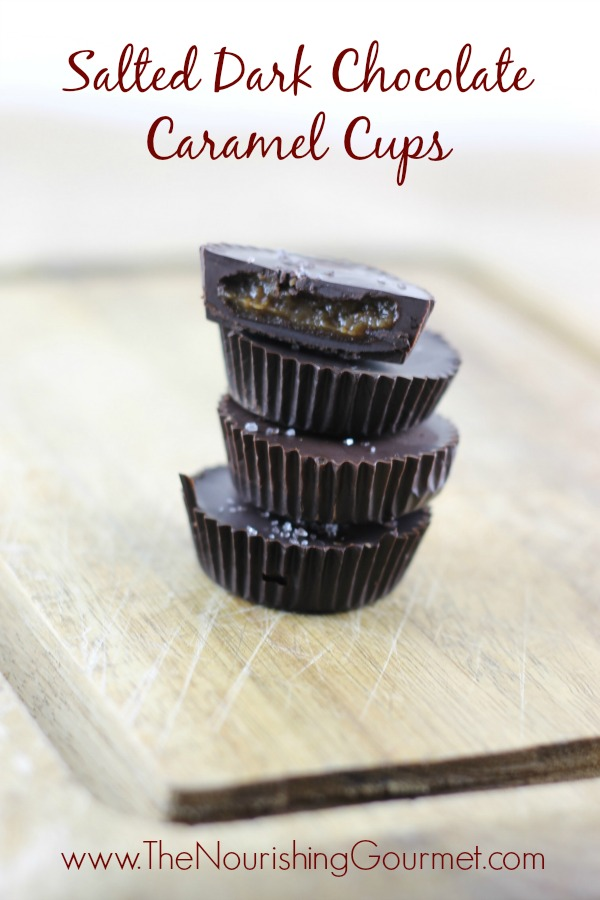Salted Dark Chocolate Caramel Cups