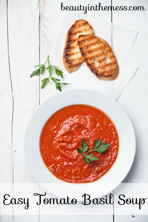 http://beautyinthemess.com/easy-tomato-basil-soup/