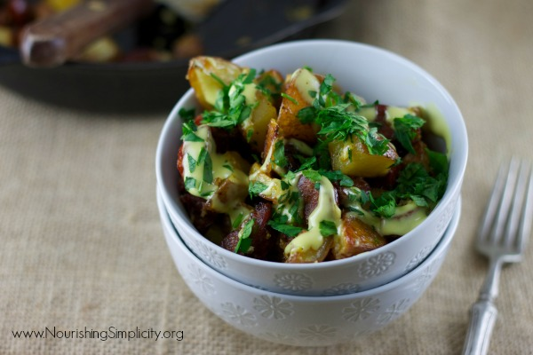 Red Potatoes with Garlic and Spanish Chorizo 2