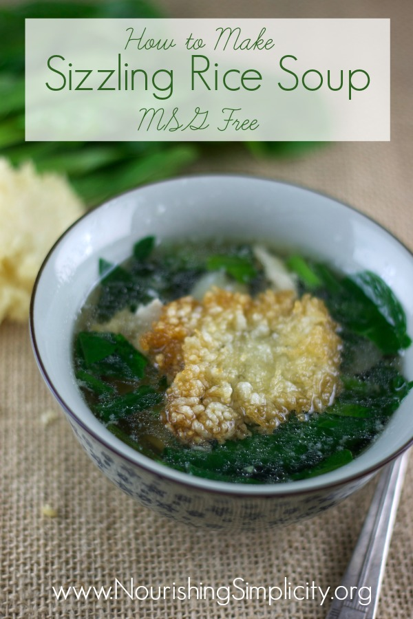How to Make Sizzling Rice Soup