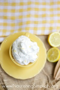 Fresh Lemon Whipped Cream - www.nourishingsimplicity.org