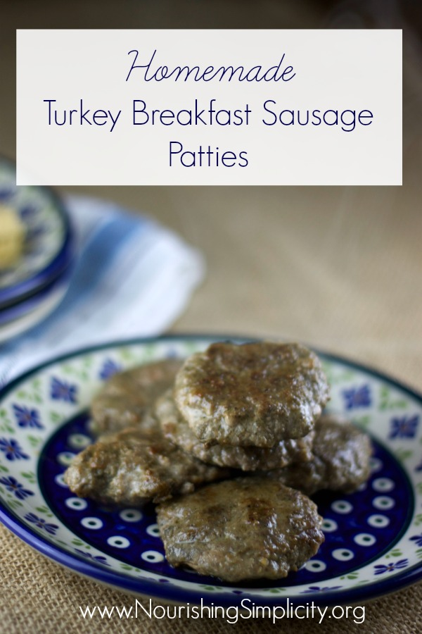 Homemade Turkey Breakfast Sausage Paties