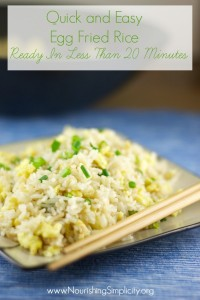 Quick and Easy Egg Fried Rice- www.nourishingsimplicity.org