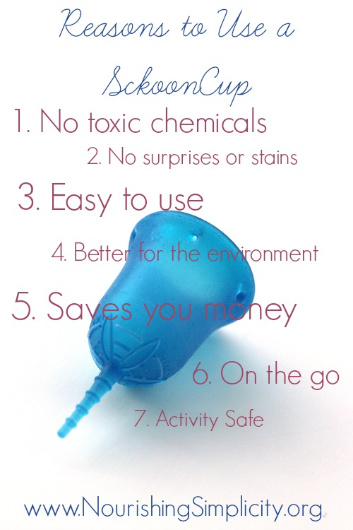 Reasons to Use a Menstrual Cup- www.NourishingSimplicity.org