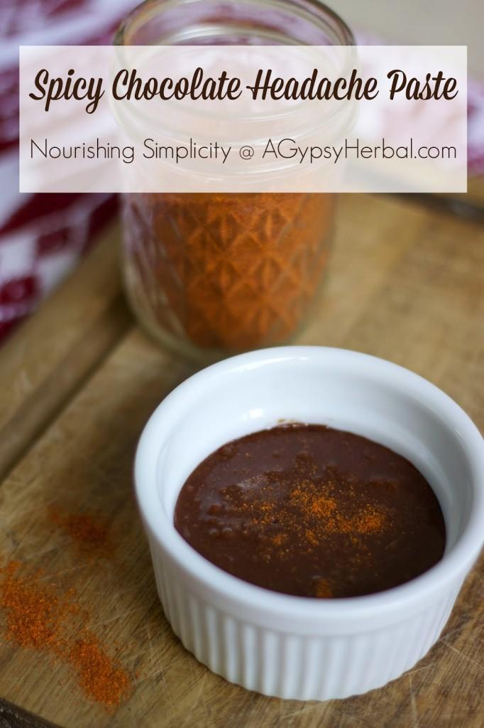 Spicy Chocolate Headache Paste- www.nourishingsimplicity.org