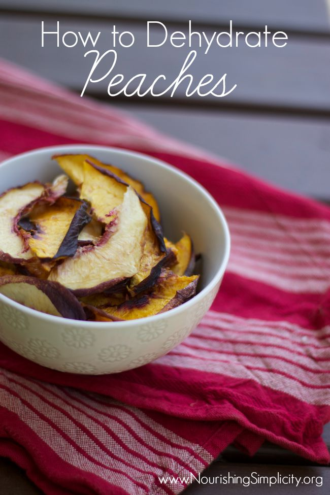How to Dehydrate Peaches-www.nourishingsimplicity.org