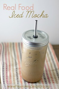 Real Food Iced Mocha- www.nourishingsimplicity.org