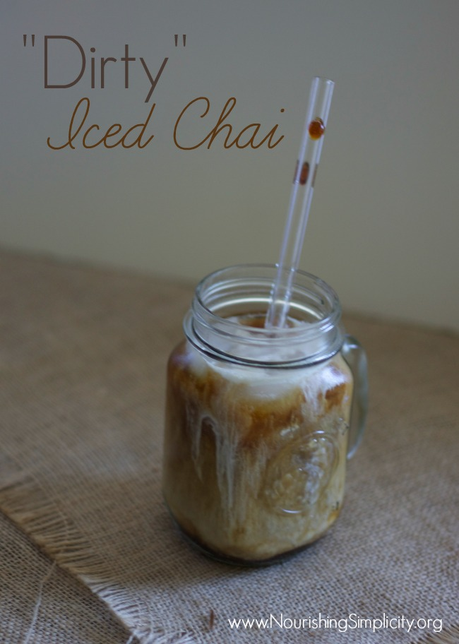 Dirty Iced Chai- www.nourishingsimplicity.org