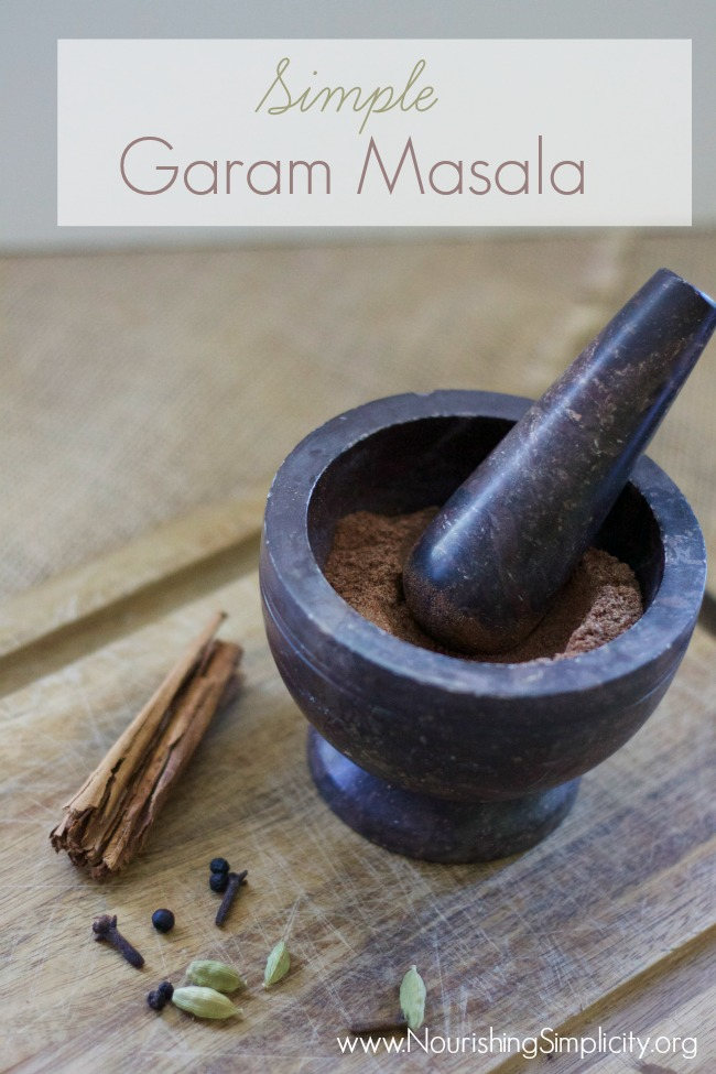 Simple Garam Masala- ww.NourishingSimplicity.org