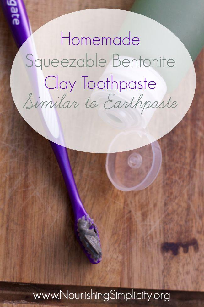 Homemade Squeezable Bentonite Clay Toothpaste