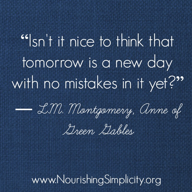 Anne of Green Gables Quote-www.nourishingsimplicity.org