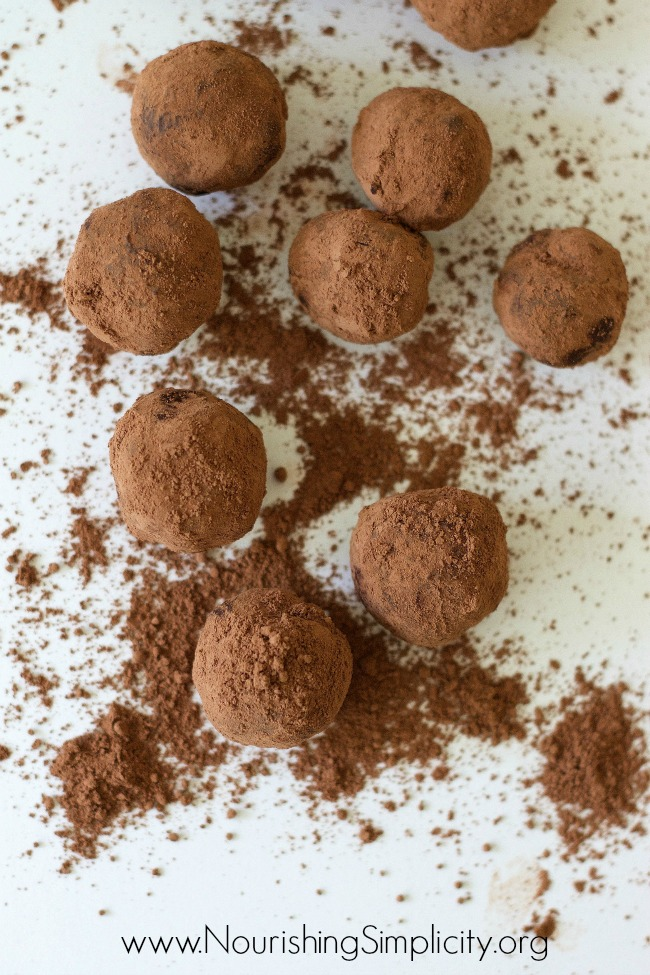 Bittersweet Chocolate Truffles-www.nourishingsimplicity.org