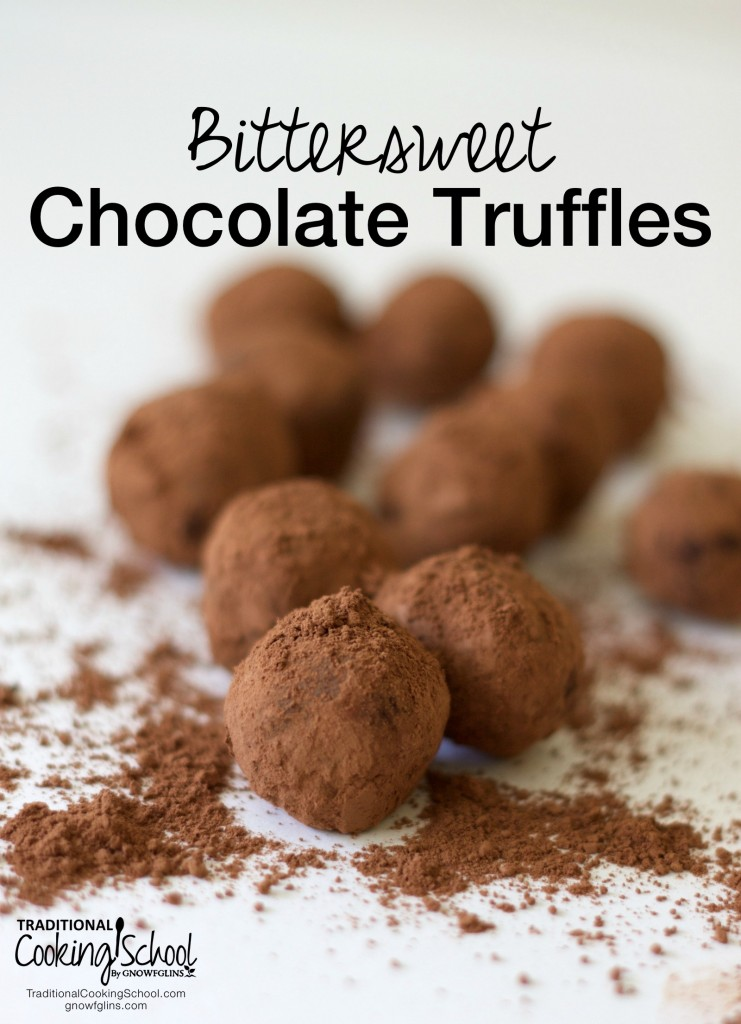 Bittersweet  Chocolate Truffles- www.nourishingsimplicity.org