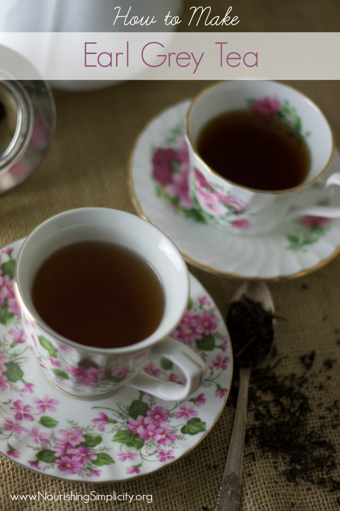 How to Make Earl Grey Tea-www.nourishingsimplicity.org