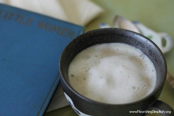 London Fog Latte -www.nourishingsimplicity.org