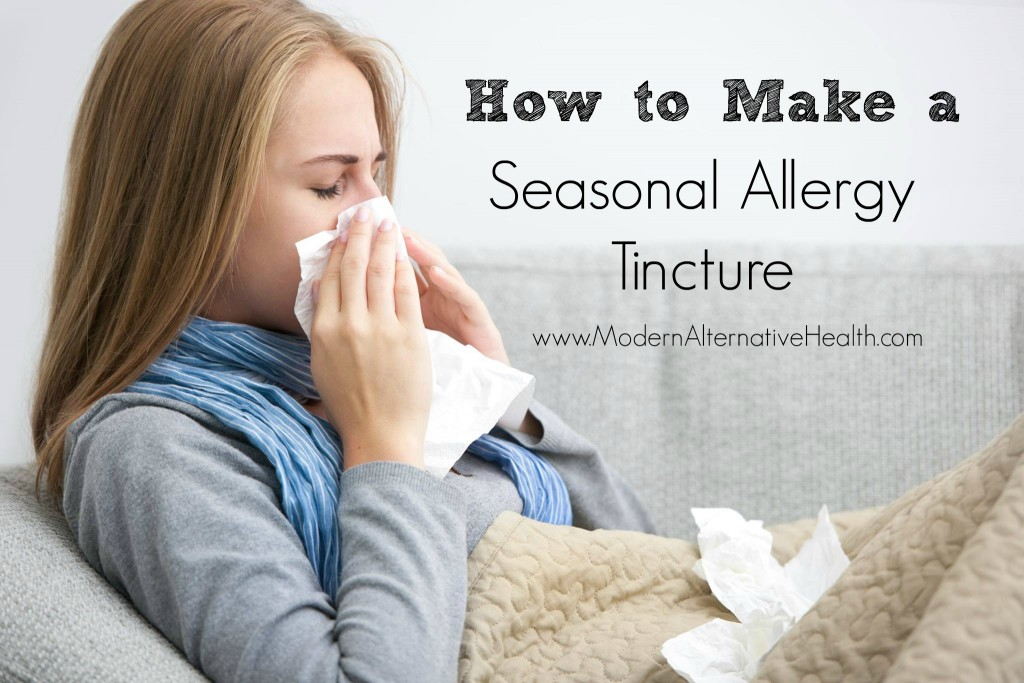 How to Make a Seasonal Allergy Tincture