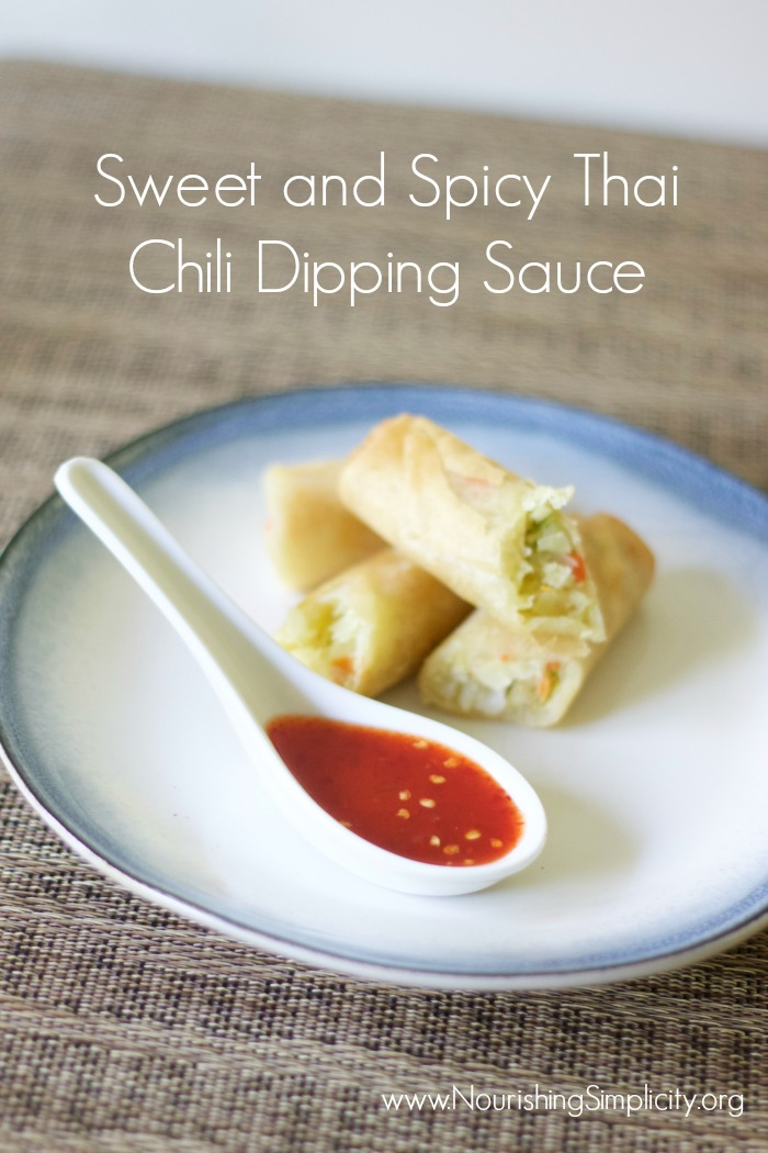 Sweet and Spicy Thai Chili Dipping Sauce -www.nourihsingsimplicity.org