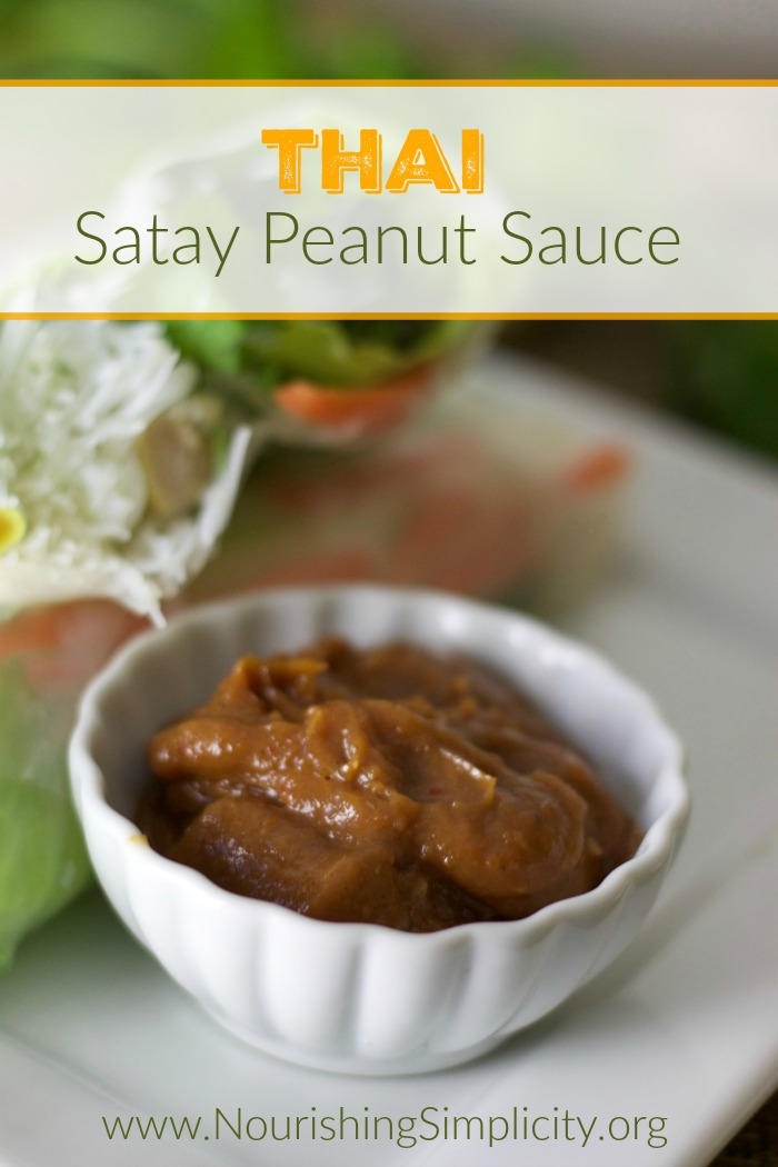 ... hint of spice. Thai satay peanut sauce is perfection on a spoon
