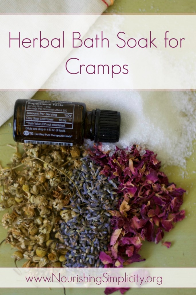 Herbal Bath Soak for Cramps