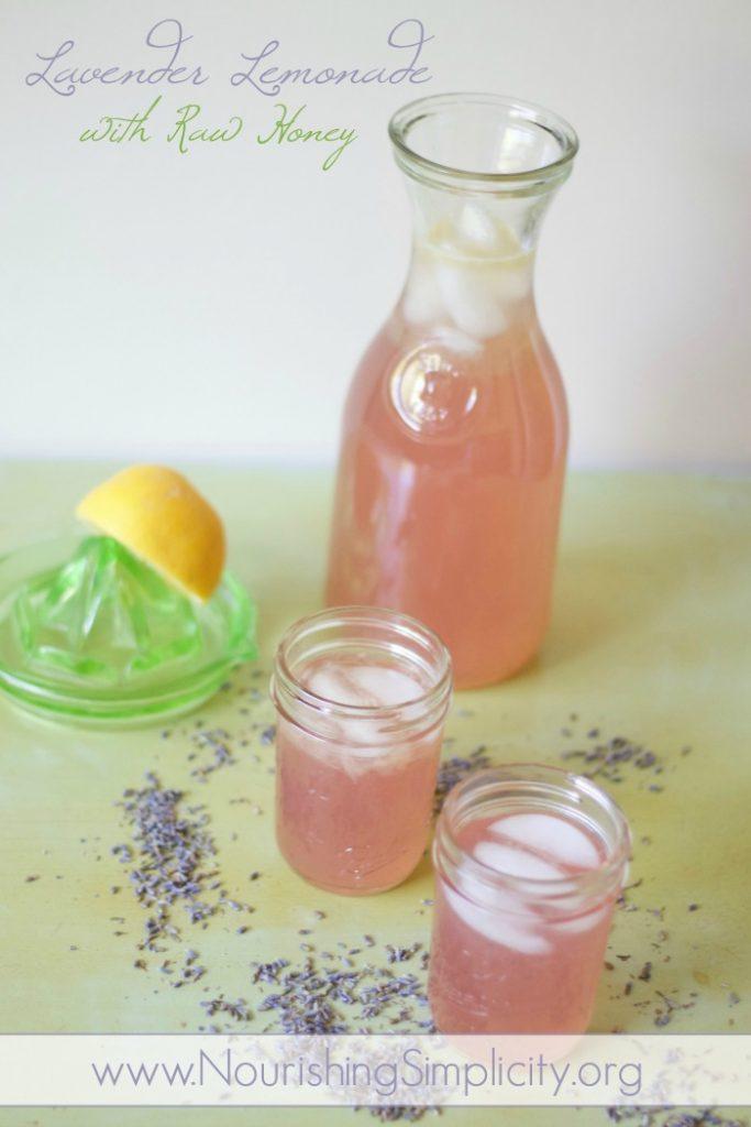 Lavender Lemonade with Raw Honey NS