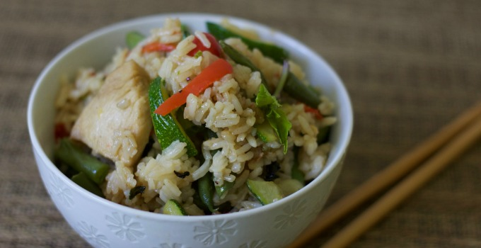 Thai Chicken Fried Rice-www.nourishingsimplicity.org