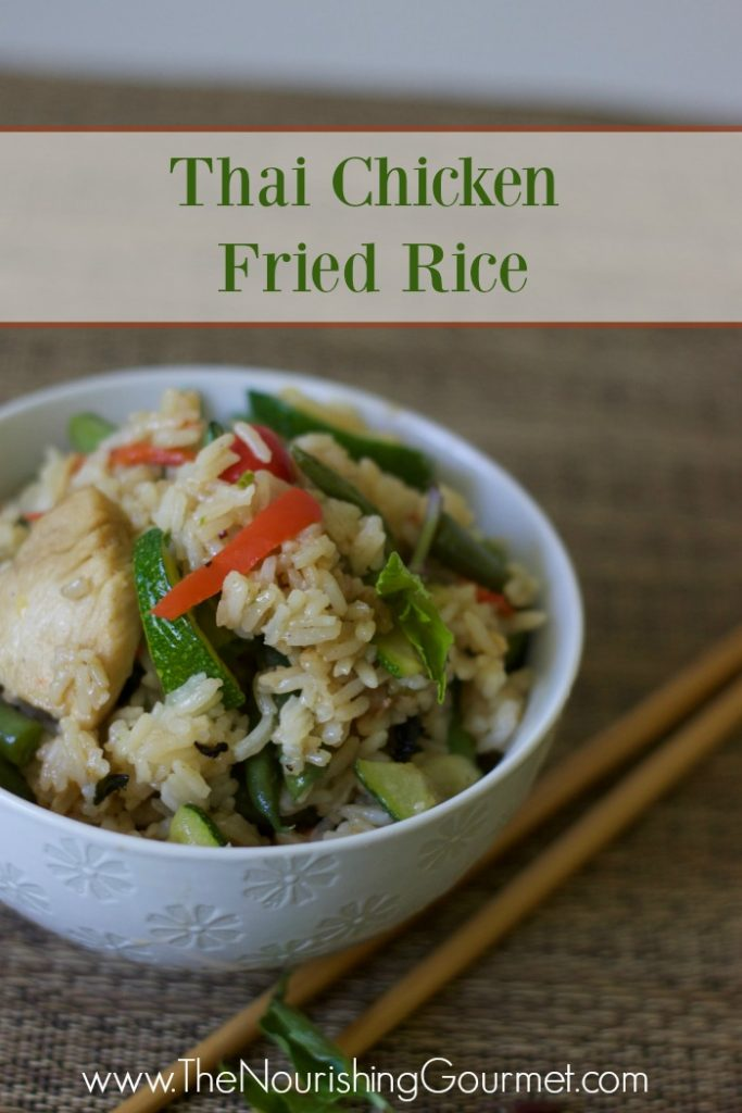 Thai Chicken Fried Rice- www.nourishingsimplicity.org