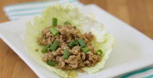 Sesame Chicken Lettuce Wraps-www.nourishingsimplicity.org