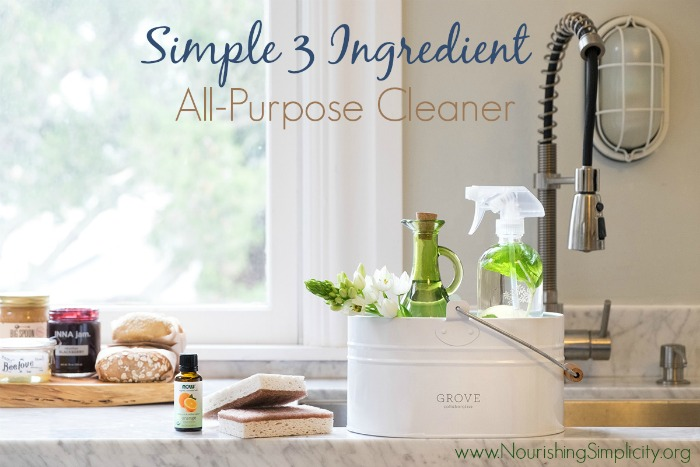 Simple 3 Ingredient All-Purpose Cleaner- www.nourishingsimplicity.org