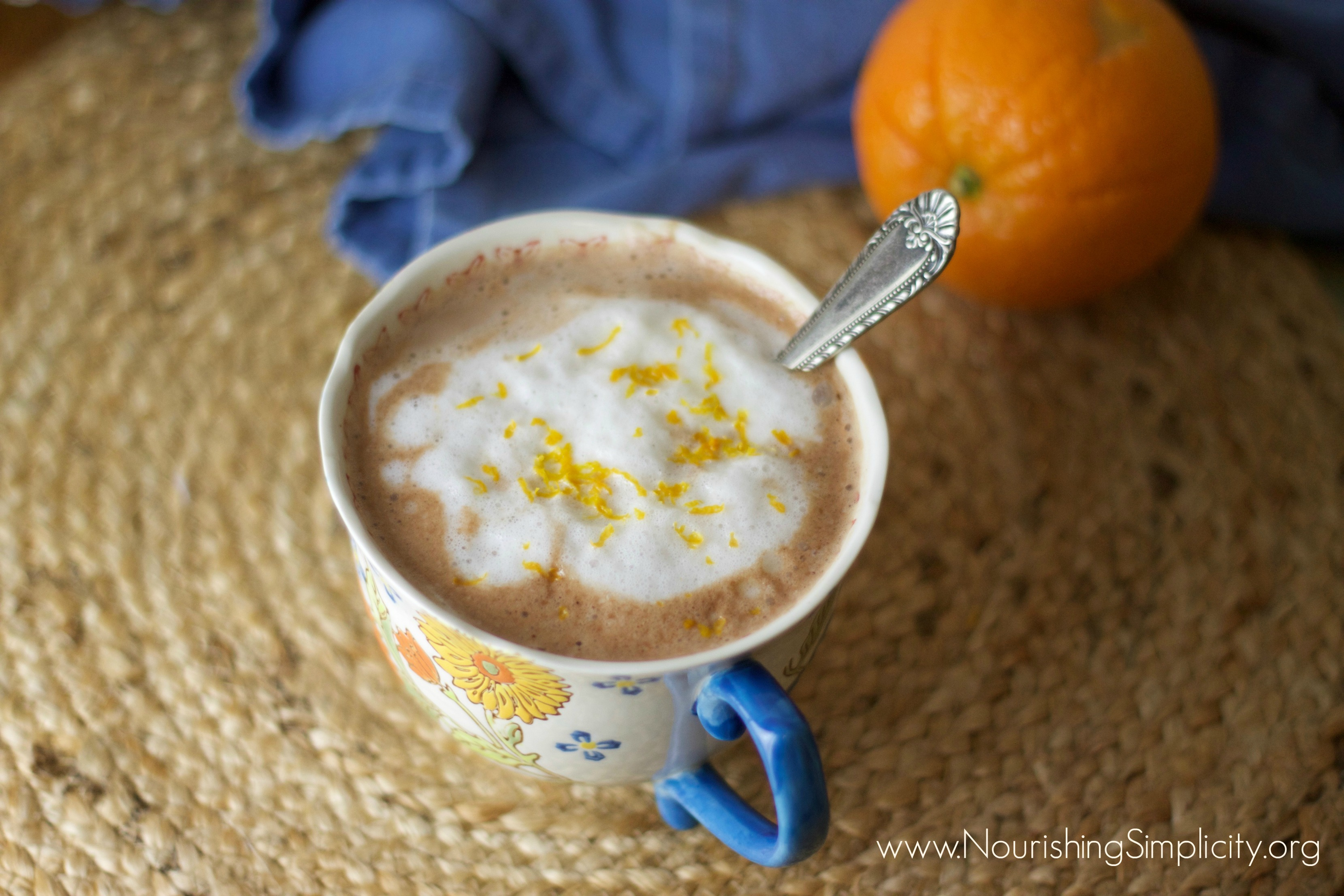 Nourishing Orange Hot Cocoa- www.nourishingsimplicity.org