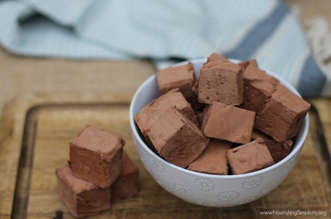 Chocolate Honey Sweetened Marshmallows