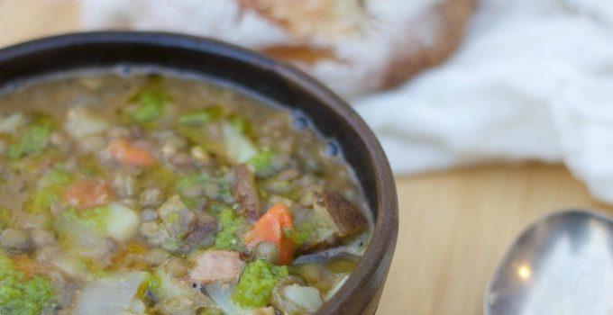 Savory Lentil Soup- www.NourishingSimplicity.org
