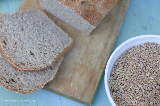 Whole Wheat Bread From Scratch- www.nourishingsimplicity.org