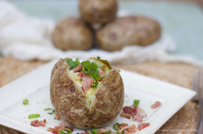 How to Make the Best Crispy-Skinned Baked Potatoes-www.NourishingSimplicity.org