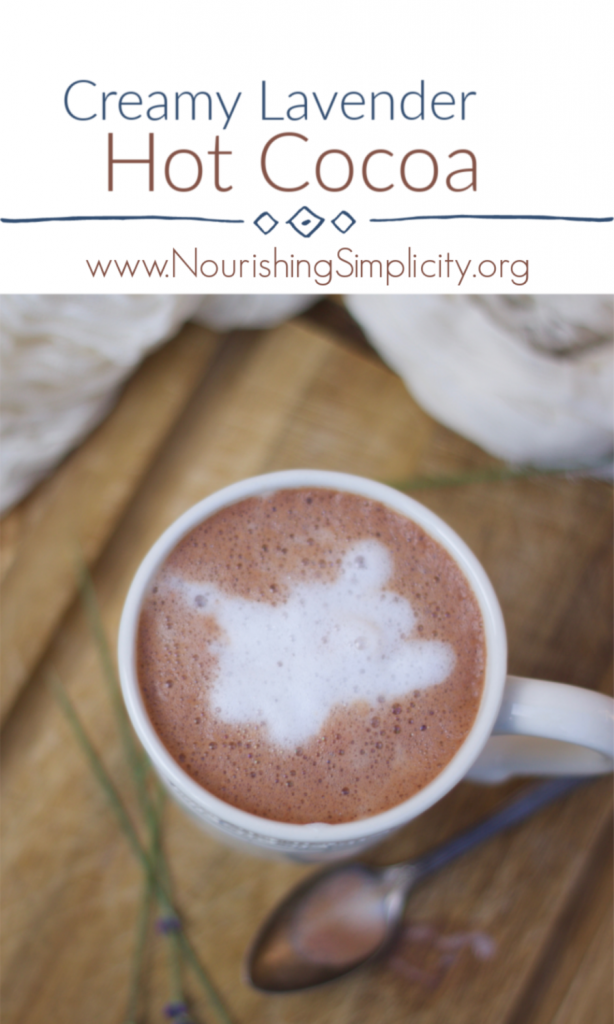 Creamy Lavender Hot Cocoa-www.nourishingsimplicity.org